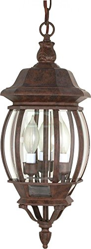 Nuvo Lighting 60/895 Three Light Hanging Lantern, Bronze/Dark (Hill Outdoor Hanging Wall)