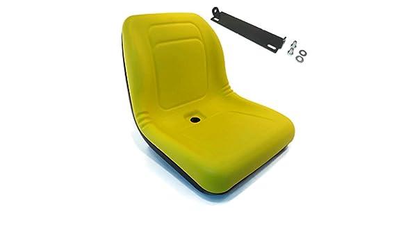 Yellow High Back Seat w// Pivot Rod Bracket John Deere LX279 LX280 LX288 LX289