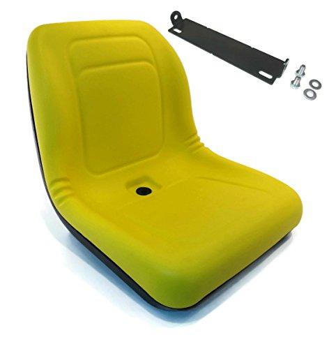 The ROP Shop New Yellow HIGH Back SEAT w/Pivot Rod Bracket for John Deere LX178 LX186 LX188 -  TRS-KIT-29_Z16