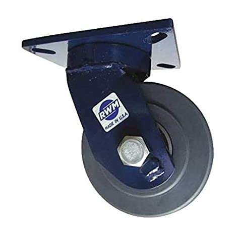 "6/"" x 2/"" Kingpinless Swivel Caster w// Brake  apex Polyurethane Wheel Tool Box 4"