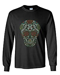 Rhinestone Skull Long Sleeve T-Shirt