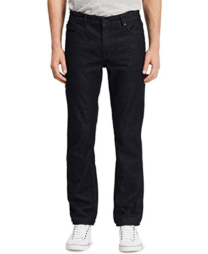 Calvin Klein Men's Slim Straight Jeans, Tinted Rinse, 36x30 Button Fly Tinted Jeans