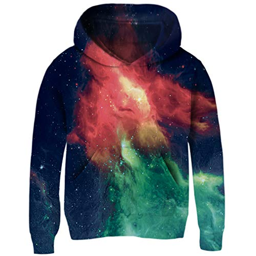 e47523dad Funnycokid Boys Girls Fleece Hoodies 3D Print Pullover Sweatshirts Hooded  Jumpers 3-14Y