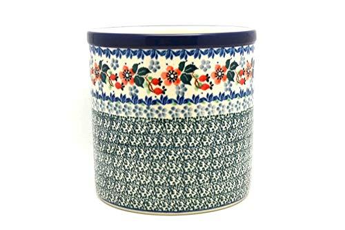 Polish Pottery Utensil Holder - Cherry Blossom