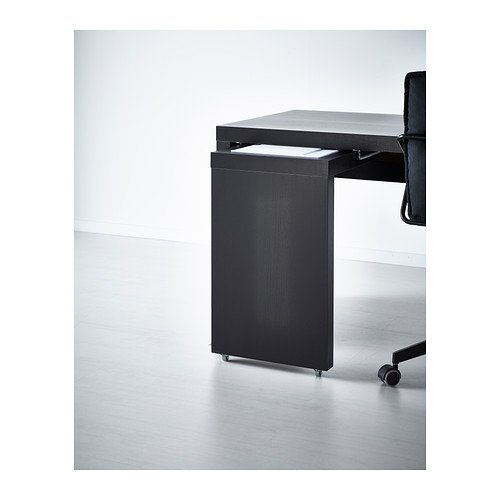 Ikea Desk With Pull Out Panel Black Brown 262105145188 Amazoncom