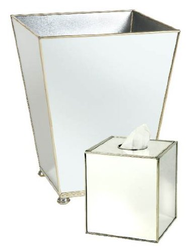 JM Bathroom Sets Bathroom Trash Can Waste Baskets & Tissue Box Covers Sets ()