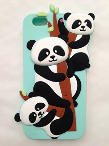 3D Cartoon Panda Soft Silicone Gel Back Case Cover For iPhone 6/6s - 6