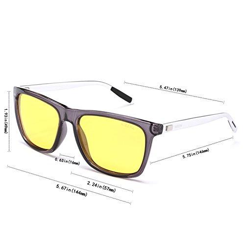 ddd03616746 ... NIEEPA Square Polarized Sunglasses Aluminum Magnesium Temple Retro  Driving Sun Glasses Night Vision Lens Trans ...