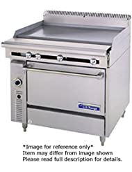 Garland C0836 4 1 Cuisine Series Heavy Duty 36 Gas Range With 2 30 000 BTU Open Burners Right 1 18 Thermostatic Griddle Left Cabinet Base