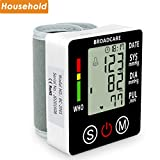 Wrist Blood Pressure Monitor from BROADCARE, Adjustable Cuff Size, Double 99 Memory Groups, Built-in Rechargeable Lithium Battery for Operation