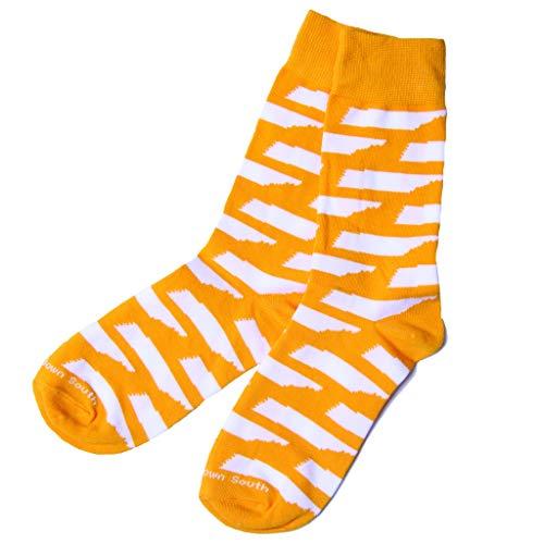- Tennessee Dress Socks for Men or Women - Orange and White Volunteer Pride