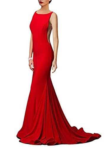 Red Brautjungfernkleider Abendkleider BallKleider Bainjinbai Meerjungfrau Lang Festkleider xHEwEYntq