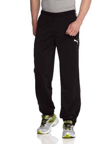 PUMA Herren Hose Spirit Poly Pants with Zipped Leg Opening, Black/White, M, 654041 03