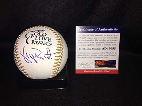 George Brett Autographed Signed Memorabilia Official Gold Glove Baseball Kansas City Royals HOF PSA/DNA - City Glove Kansas Gold Royals