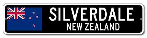 New Zealand Flag Sign - SILVERDALE, NEW ZEALAND - Kiwi Custom Flag Sign - 9