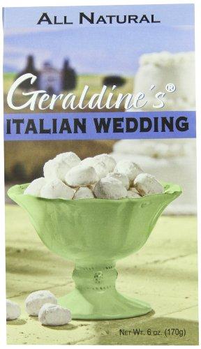 Geraldine's Cookies, Italian Wedding, 6-Ounce (Pack of 6)