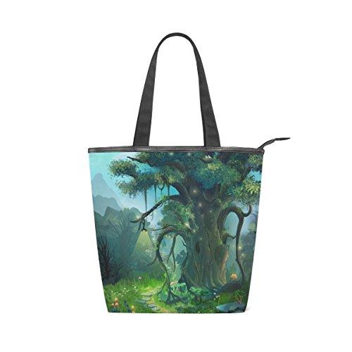 Canvas Womens Tree Tote Fantasy Shoulder Evening MyDaily Handbag Cartoon Bag q4HxCC