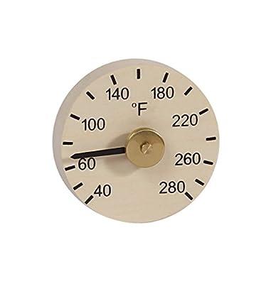 "Aspen Round Sauna Thermometer F (3 1/4"" diameter)"
