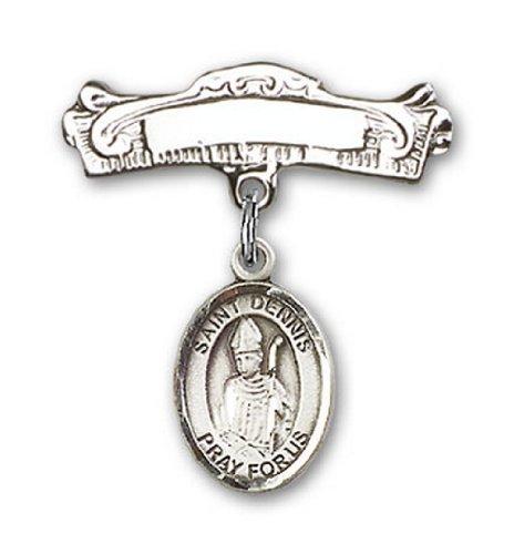 Icecarats Créatrice De Bijoux En Argent Sterling St. Charme Dennis Broches Badge Arc 7/8 X 7/8
