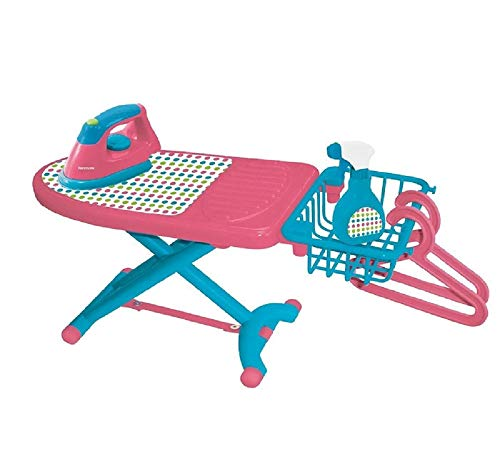 Includes: 1 Ironing Board, 1 Drying Rack, 1 Iron, 1 Spray Bottle, 2 Hangers - My First Kenmore Laundry Set