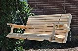 4 Ft Cypress Porch Swing with Unique Adjustable Seating Angle For Sale