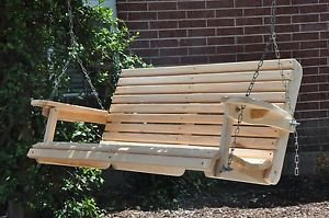 4 Ft Cypress Porch Swing with Unique Adjustable Seating Angle (Unique Seating)