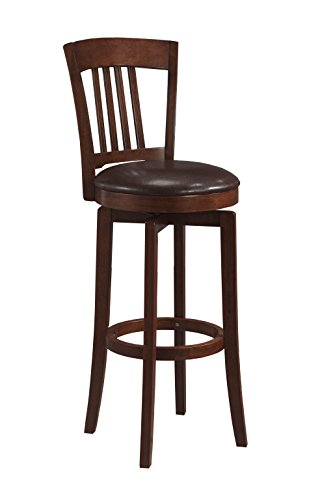 Hillsdale Furniture 4166-829 Canton Swivel Counter Stool, Brown