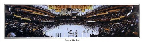 SportPicturesOnline NHL Boston Bruins Last Game vs Rangers Old Boston Garden - 9.5x27 Panoramic Poster with Black Metal Frame #4002