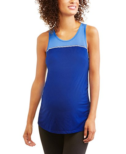 Danskin Racerback Tank (Danskin Now Maternity Colorblock Active Racerback Tank Top\ (Medium, Royal Blue/Turq))