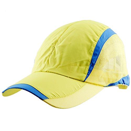 (Samtree Unisex Sun Hat,Ultra Thin Quick Dry Lightweight Summer Sport Running Baseball Cap(017-Yellow))