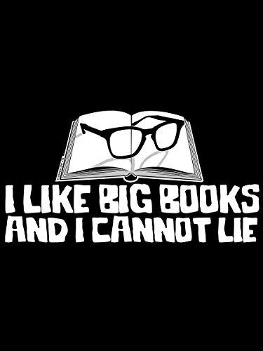 Borsa da postino I Like Big Books in nero 38 x33 x 11 cm