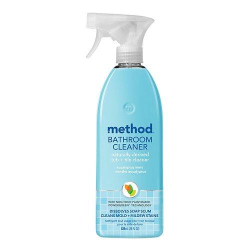 method Bathroom Cleaner Dissolves Soap Scum for Less Scrubbing, Eucalyptus Mint 28 Fl Oz - Pack of 2