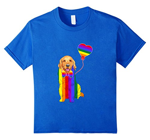 unisex-child Golden Retriever LGBTQ 2017 Rainbow Gay Lesb...