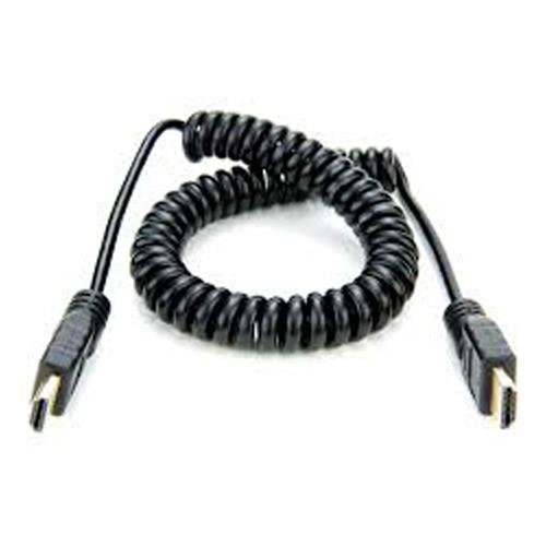 Atomos HDMI Full to HDMI Full Coiled Cable, 30cm/12'' Coiled (60cm/24'' Extended) by Atomos