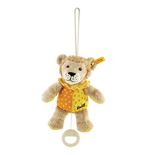 (Steiff Leon Lion Music Box Plush, Beige/Yellow/Orange)