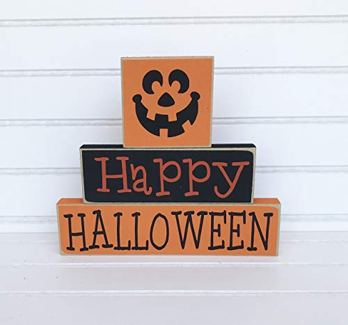 (Happy Halloween Wood Blocks)