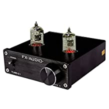 JouerNow FX Tube-01 Pre-Amplifier HIFI Stereo Buffer Preamp, with Mini 6J1 Valve & Vacuum Tube, 12V (Black)