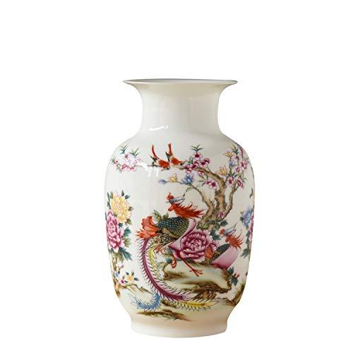 Chinese Style Gourd Vase Classical Porcelain Kaolin Flower Vase Home Decor Handmade Shining Famille Rose Vases,7