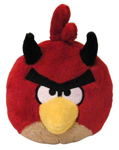 Angry Birds Seasons 5 inch Halloween Devil Red Bird No Sound Plush ()