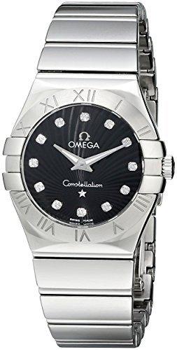 Omega Mujer 123.10.27.60.51.002 constelación pulido 27 mm analógico pantalla Cuarzo Plata reloj