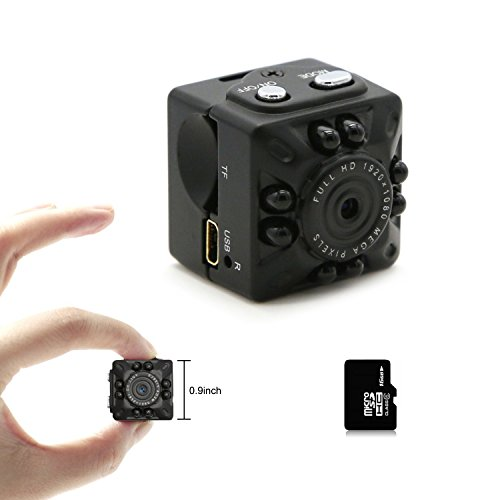Motion Detection Video Camera (Aufikr Mini DV Camera Small Camera 1080P Full HD 12.0MP Portable Mini Video Camera with IR Night Vision & Motion Detection, Security Surveillance Camera for Home Office (Black 16GB))