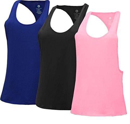 RUNNING GIRL - Camiseta sin mangas - para mujer Black Blue Pink