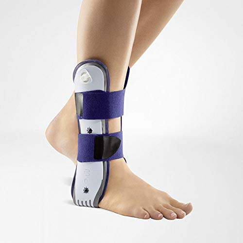- Bauerfeind - AirLoc - Ankle Brace - Left Ankle - Helps Stabilize Capsular Ligaments of Upper Ankle, Prevents Ankle Twisting, Adjustable & Inflatable Air Cushions - Color Titanium