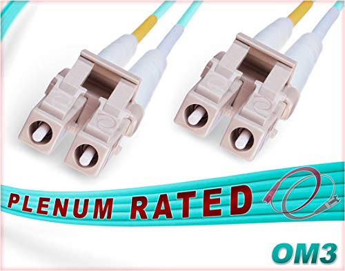 - FiberCablesDirect - 100M OM3 LC LC Fiber Patch Cable | 10Gb Plenum Duplex 50/125 LC to LC Multimode Jumper 100 Meter (328ft) | Length Options: 0.5M-300M | Made in USA | 1/10/40g 10gbase mm ofnp lc-lc