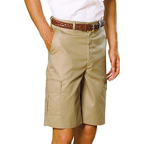Edwards Garment Mens Flat Front Button Closure Cargo Short