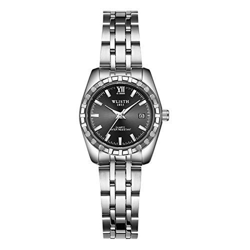 Watches Women Full Steel Quartz Analog Wrist Watch Men Waterproof Date Business Watch Classic Watches
