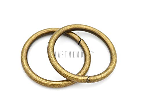 - CRAFTMEmore O-Ring Findings Metal Non-Welded O Rings for Belts Bags Landyard DIY Leather Hand Craft (1-1/4