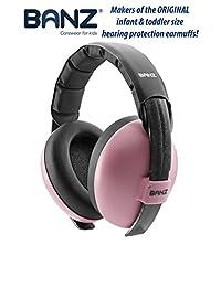 Baby Banz Orejeras protectoras de la audición, para bebés de 0-2 años, rosado