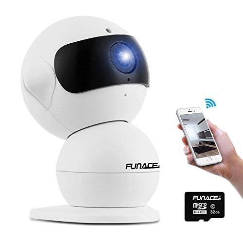 FunAce Robot WiFi Dual HD Optic Camera with 32 GB MicroSD Card
