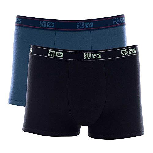 Hang Loose Kit 2 Cuecas Boxer, Masculino, Preto/Azul, GG